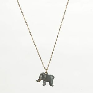 J Crew Enamel Elephant Necklace (long)